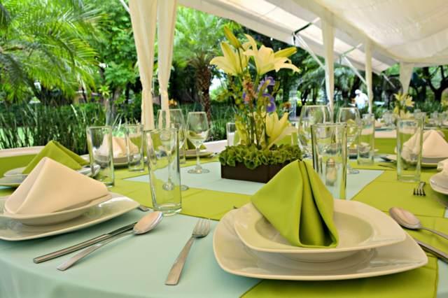 verde decoración boda preciosa tendencias 2015