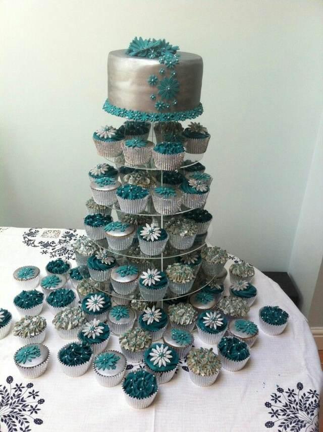 colores modernos boda aguamarina dulces decoración tendencias 2015
