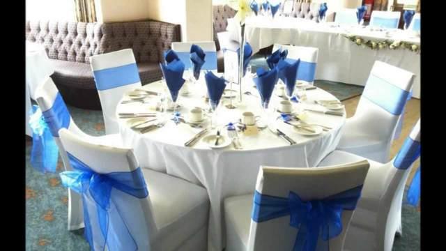 decoración color azul boda tendencias modernas