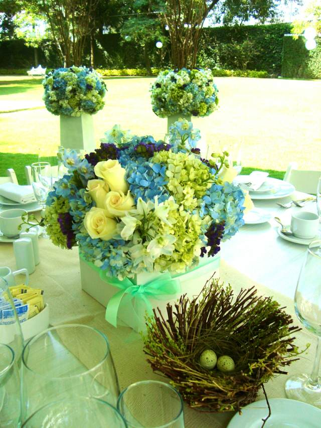 decoración colores actuales verde boda tendencias 2015