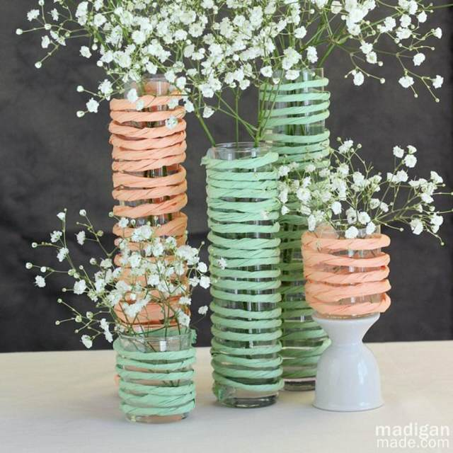 decoración magnífica color verde bodas tendencias 2015