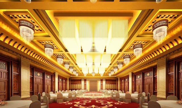 decoración de fiestas corporativas banquete dorado