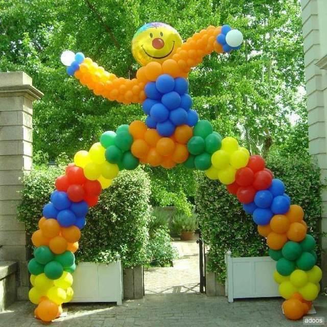 decoracin de globos idea original forma arco fiesta infantil