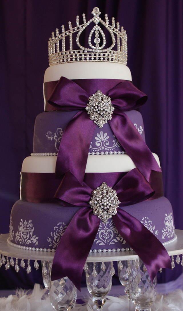 decoración de pasteles estupenda tema reina lila