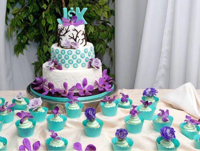 decoración de pasteles postres temáticos colores vivos