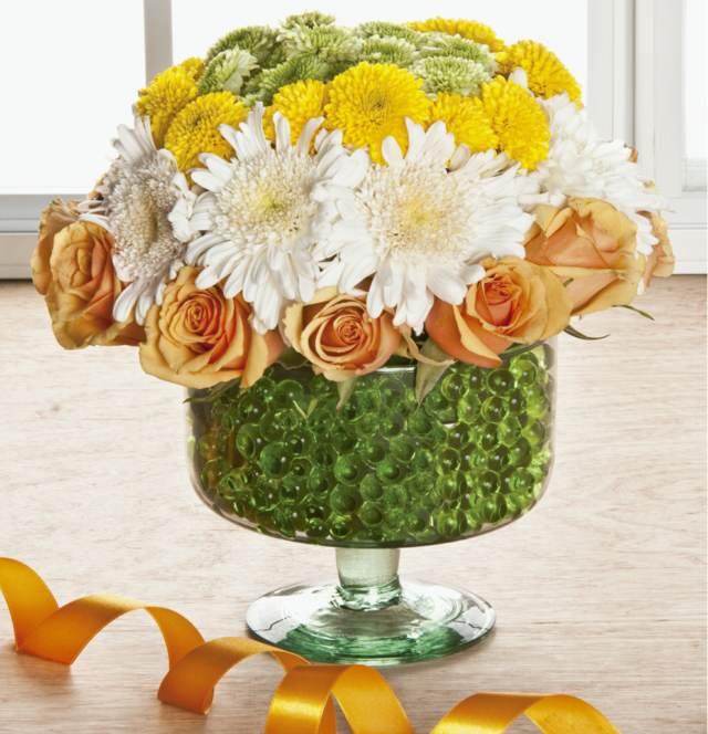 decoración perfecta flores preciosas bonitas colores blanco beige amarillo