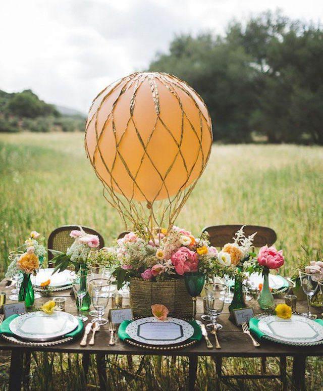 decoración para cumpleaños globo precioso estilo vintage