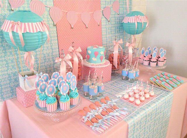 tierna decoración para cumpleaños temática globos