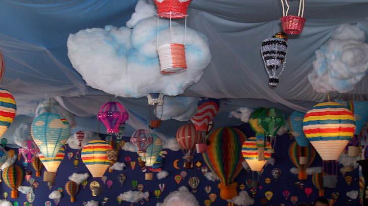 decoración para cumpleaños tema globos pintados