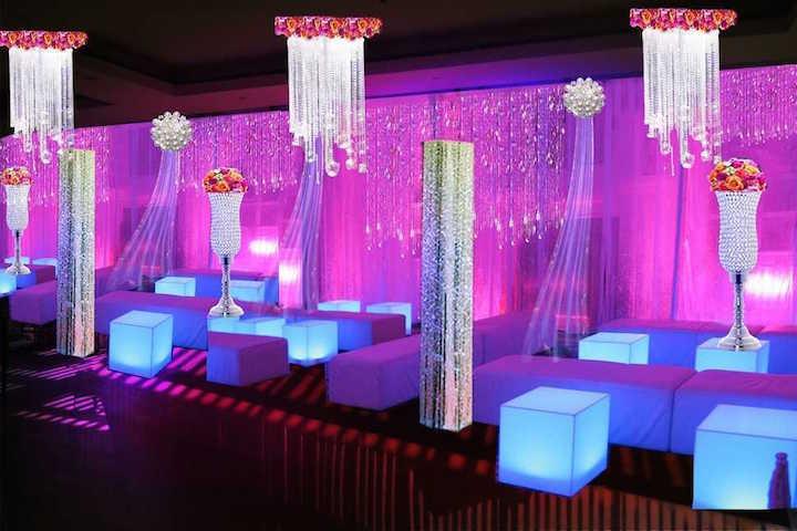 decoración iluminación novia celebración despedida