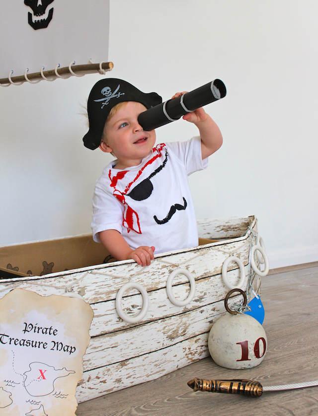 decoración temática fiesta infantil pirata niño