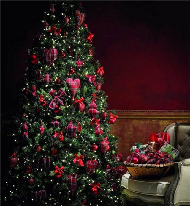 deoración de árboles Navidad ideas magníficas manualidades