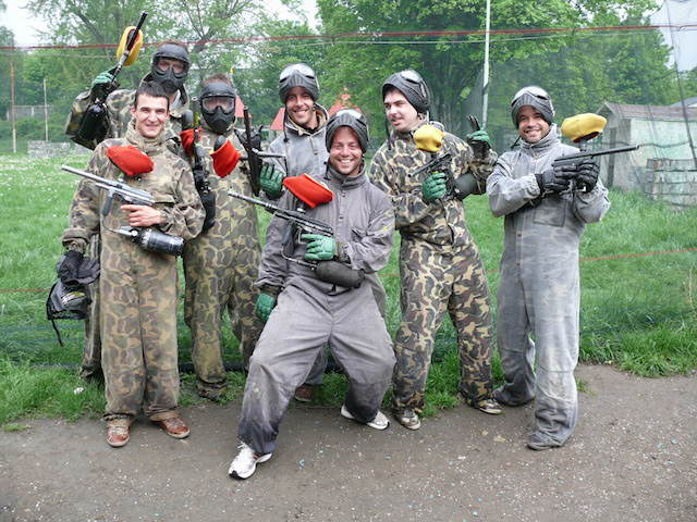 despedida de soltero paintball moda