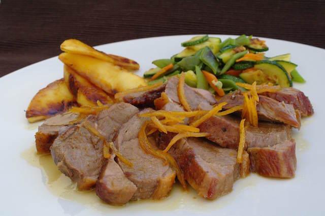 día de Reyes comida típica pato a la naranja