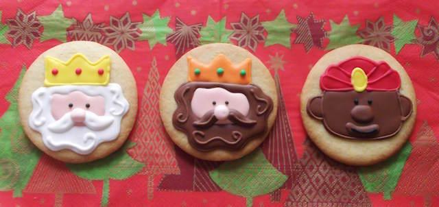 día de Reyes galletas forma sus Majestades
