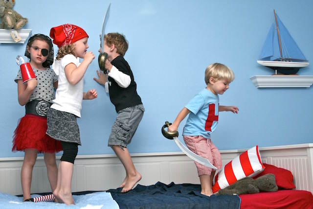 disfraz de pirata cumpleaños temáticos niño niñas