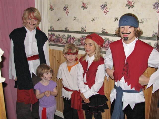 disfraz de pirata fiesta infantil niños