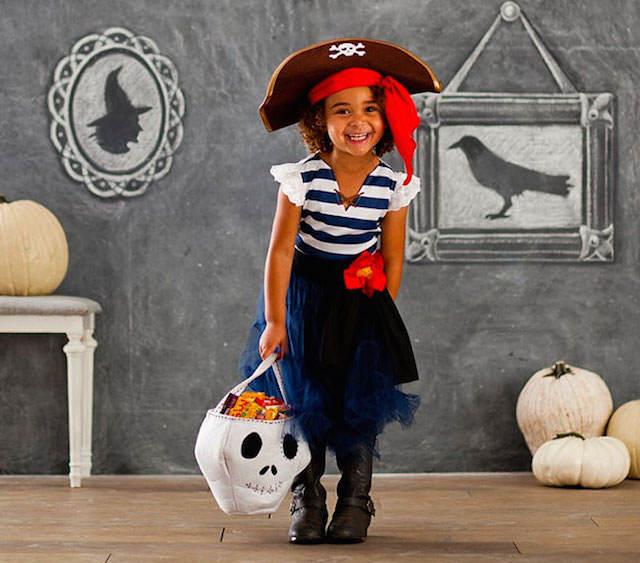 disfraz de pirata muchacha entera decoración