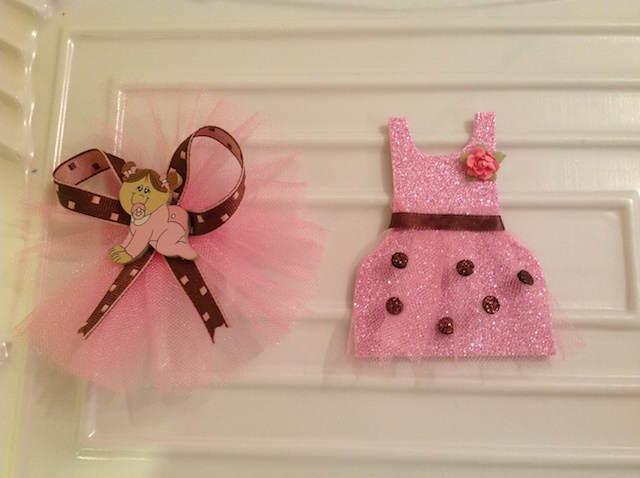 distintivos para bautizo niña color rosa bebé