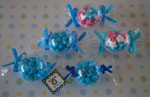 dulceros para fiestas infantiles niño color azul