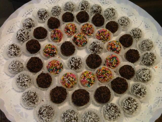 dulces fiesta trufas chocolate decoración diferente