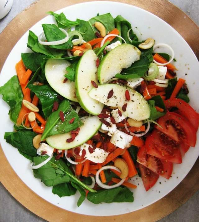 ensaladas fáciles saludables espinaca receta