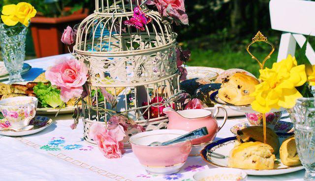 estilo vintage flores fantástica decoración pintada