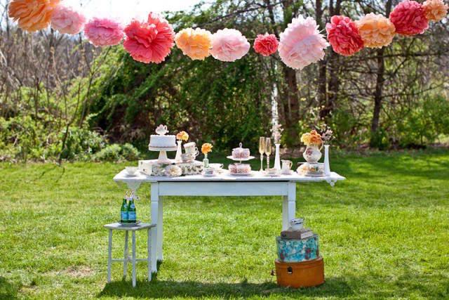 estilo vintage flores tiernas fiesta aire libre sol