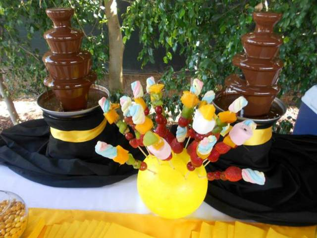 evento corporativo fuente de chocolate ideas originales
