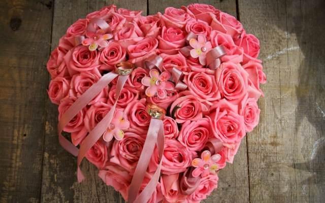 flores bonitas rosas corazón color rosa idea decoración