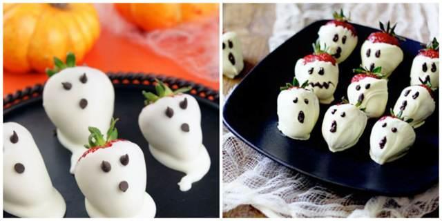 fresas chocolate blanco ideas fiesta temática halloween