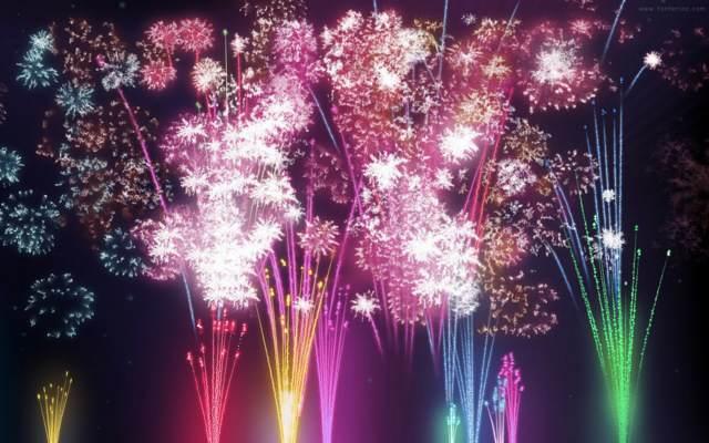 fuegos artificiales noviazgo fin de año navidad