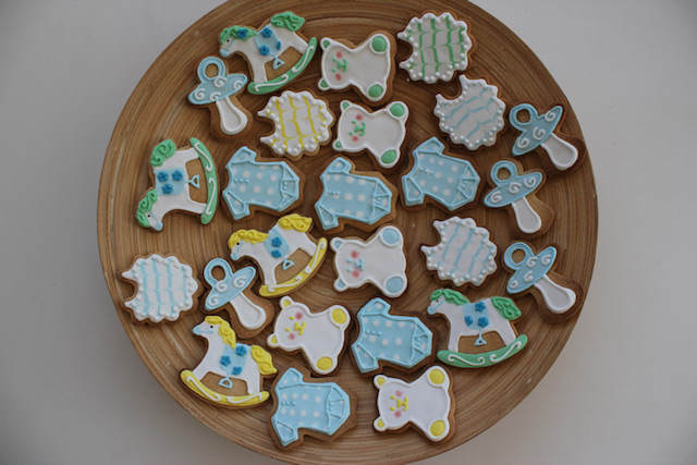 galletas de mantequilla temáticos bautizo niño