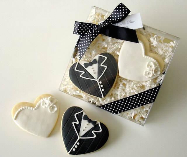 galletas recién casados recuerdos para boda