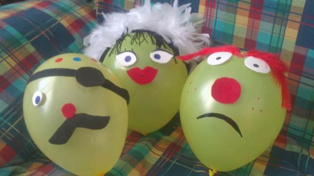 globos divertidos decoración fiesta infantil juegos divertidos