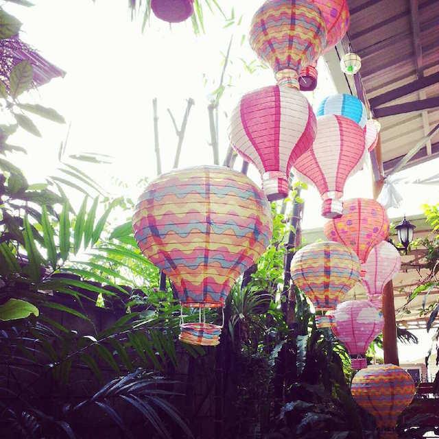 globos jardín decoración para cumpleaños