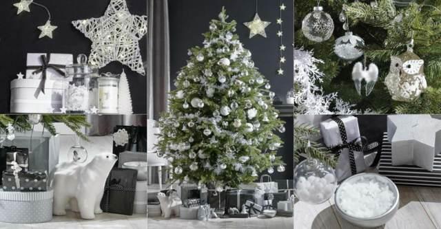tendencias modernas decoración árboles Navidad