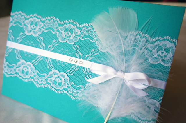 invitaciones color aguamarina tendencias decoración bodas 2015
