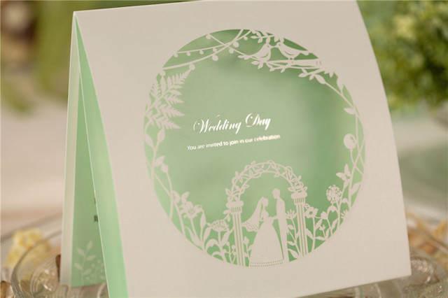 para boda modernas color verde lucite