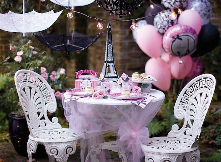 jardín decoración de cumpleaños estupenda Paris