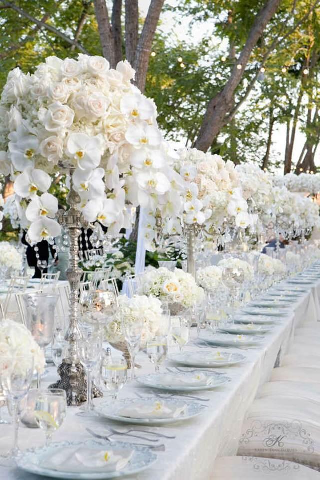 fabulosa decoración arreglos florales mesa boda