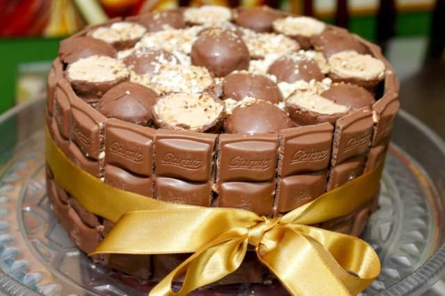 preciosa torta de chocolate opción perfecta fiesta cumpleaños