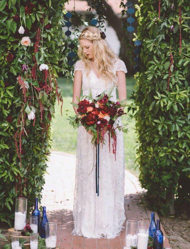 marsala azul clásico estupenda combinación boda