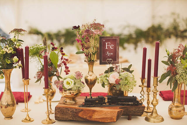 marsala color moderno año 2015 decoración boda