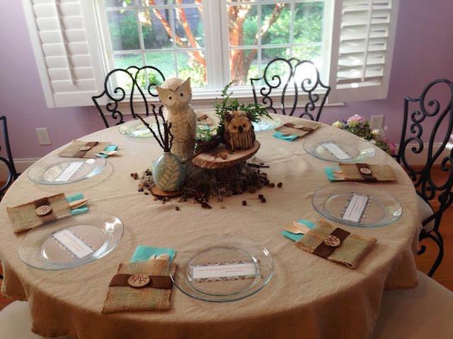 mesa decorada tema bosque centros magníficos