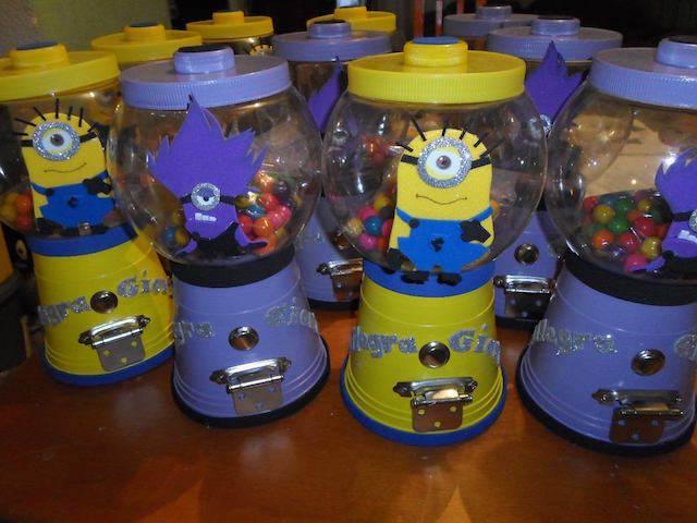 dulceros en forma de minions para fiestas infantiles modernos