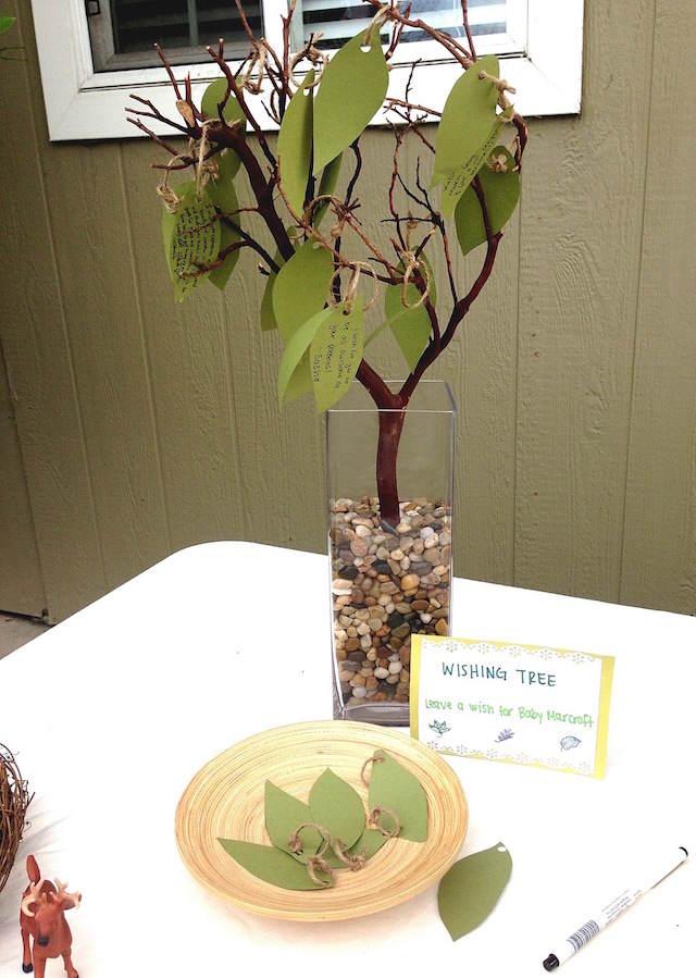 originales centros de mesa para baby shower árbol