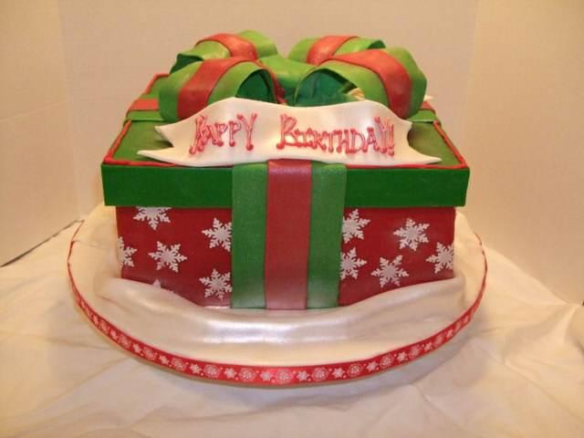 tortas cumpleaños navidad idea magnífica