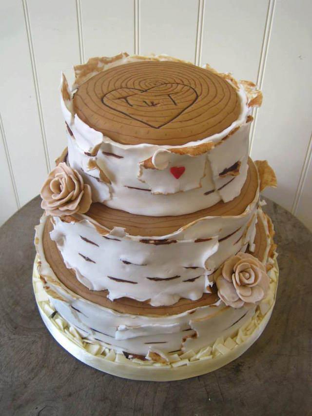 pastel de boda diseño original no estándar