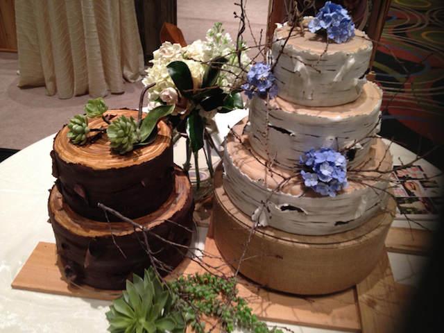 pasteles para boda temáticos bosque